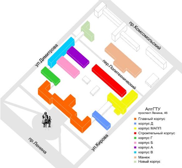 Схема горного университет
